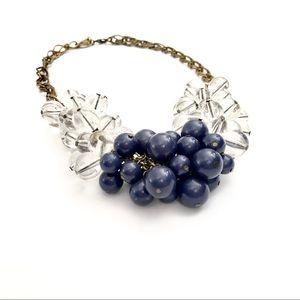 J. CREW blue & crystal bauble bracelet NWT